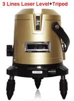 Laser Level+Tripod FREE SHIPPING laser level 3 lines hilti electronic level self levelling laser tape measure laser free line