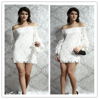 Sexy Womens Lady Chiffon Lace Floral Strapless  Night Cocktail Party Short Mini Dress Free Shipping 1pcs/lot