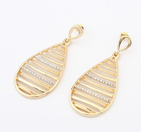 Min.order is $15 (mix order) European and American hollow water drop earrings