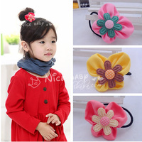30pcs Mixed Nice Butterfly Hair Ties Girls Flower Ponytail Hair Holder Lovely Elastic Hairband Kid's Hair Accessories