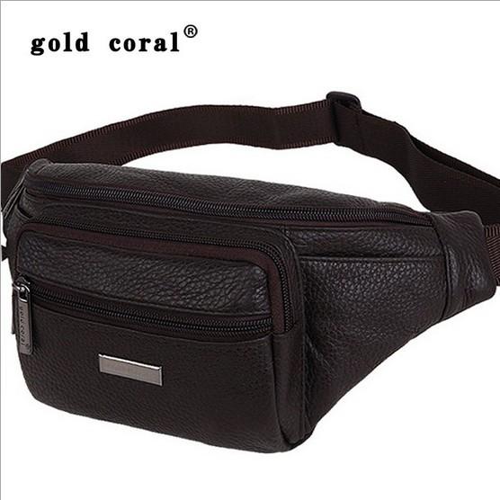 Free Shipping Mens Ladies Black Brown genuine leather Waist bag bum bag fanny pack travel money belt ID card wallet phone Bag(China (Mainland))