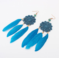 Min.order is $15 (mix order) Min.order is $15 (mix order) Fashion Bohemia Feather Stud Earrings
