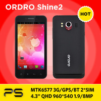 "4.3"" Ordro Shine2  2.0/8.0MP 512M RAM 4G ROM  Dual Core Dual SIM Dual camera 3G Bluetooth GPS MTK6577  smart phone Freeshipping"