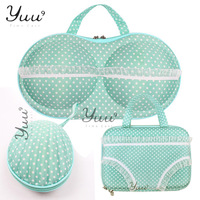 Free Shipping Travel Portable Storage Box Bra Bag Storage Box Useful Travel case bra bag three-piece suit