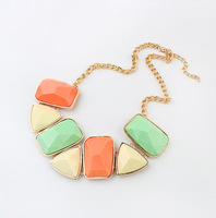 Min.order is $15 (mix order) exaggerated collar choker chunky necklace statement gems