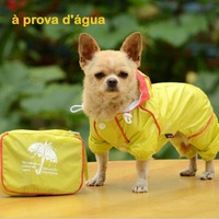 Free Shipping 2013 Lefdy New Fashion PVC double-thick mesh with four legs windproof dog raincoat
