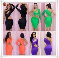 Newest Free Shipping Sexy Dresses New Fashion 2013 Women's Novelty Bodycon Dress Party Night Club Bandage Dress