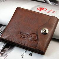 New 2014 Brand 90% Leather Wallets For Men/Fashion Buckle Men Wallets/Designer Bags Men Purse