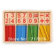 52 Husillos Conteo de Madera Juego de Matemáticas Material de juguete para el envío libre del cabrito del niño(China (Mainland))
