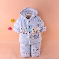 Retail winter children's 2pcs suits sets warm casual baby boys suits sets Girls hoody sweatshirt + pants Boys' Suits Sets Kids
