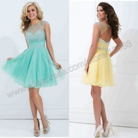 Tony Bowls TS11477 Cutesy Cocktail Dress Ligh Blue and Yellow Cocktail Dresses Free Shipping 2014