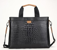 Free to send high-grade crocodile leather men's bag man bag business briefcase computer bag shoulder bag diagonal