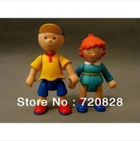 10Pcs/lot Caillou and Rosie Poseable Plastic Doll Action Figure Cartoon TV Show