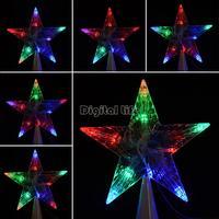 LED Indoor Outdoor Christmas Tree Topper Star Lights Lamp Xmas Decoration Night Light 100-240V/EU TK1349