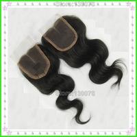 Cheap brazilian human hair lace closure ,natural free part hair closure ,virgin lace front closure