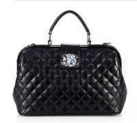 Promotion New 2014 Korean Black  PU Leather Designer women Big  messenger tote bags wholesale bolsas feminine