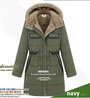 2014 New Design Women Plus size XXXL Medium style Winter Coat Casual Fur Parkas Free Shipping