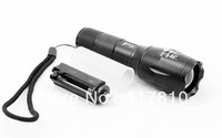 UltraFire A100 CREE XM-L T6 2000 Lumens High Power Torch Zoomable LED Flashlight Torch light For 3xAAA or 1x18650-Free shipping