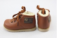 2013 Boys girl Short Snow Boots  kids Child Winter  Warm Skidproof Cotton  Shoes Flat Leather shoes Size21-31 332