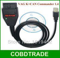 2013 Wholesale VAG K+CAN Commander 1.4 OBD2 VAG COM Diagnostic Cable VAG Commander1.4 best quality Free Shipping