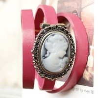 Free shipping wholesale 2013 vintage bracelet watches leather ladies cow genuine for women fashion girls