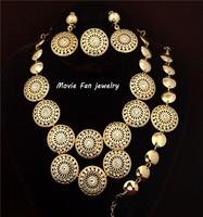 Daren hollow flower Necklace Fashion Jewelry Set For Women 4pieces/set jewelry party jewelry Bridal Jewelry  DRSC711