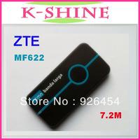 Free shipping unlocked ZTE MF622 USB Modem 7.2Mbps   ZTE 3g usb modem wireless Modem