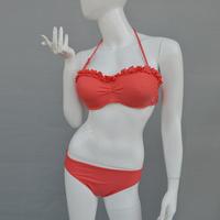 DYYY-0066 Dropshipping  push up bathing suit tops discount swimsuit ruffle bikini underwire cups swimwear Promotion Bathing Suit