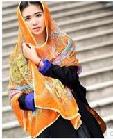 Autumn and Spring chiffon silk scarf, fashion print large silk scarf,elegant silky chiffon,cachecol, bufanda,lenco, echarpe,