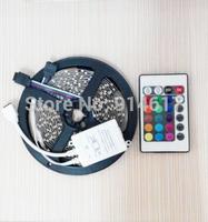 Non-Waterproof 3528 RGB flexible led strip, 60leds/M & 24key IR Romote Controller
