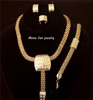Daren  rhinestone  Necklace Fashion Jewelry Set For Women 4pieces/set jewelry party jewelry Bridal Jewelry  DRSA119