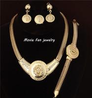 Daren Lionhead Necklace Fashion Jewelry Set For Women 4pieces/set jewelry party jewelry Bridal Jewelry  DRSA602