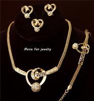 Daren  rhinestone  Necklace Fashion Jewelry Set For Women 4pieces/set jewelry party jewelry Bridal Jewelry  DRSA401