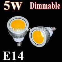 5pcs/lot Energy Saving 5W/7W/9W E14 Dimmable Led COB Spotlight white/ Warm white Led Spot Light Lamp Bulb Home Ceiling Lighting
