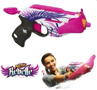 Free Shipping Original Nerf Rebelle Pink Crush Bullets Toy Gun Emitters Girls Toys