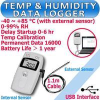 Free shipping Temperature Humidity Data logger RC-4HC Recorder Internal External Sensor 1.1 m C & F 99% RH
