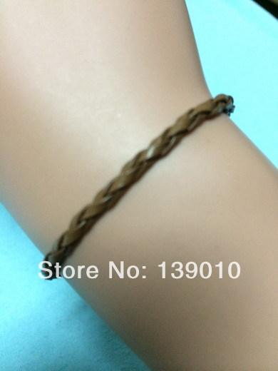 Free Shipping!12PCS/LOT!Hot Sale Woven Leather Rope Friendship Bracelet 2013 New Fashion Men Clothing Swag Chain Jewelry U-643(China (Mainland))