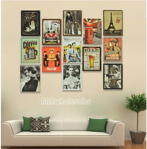 Wall collage on pinterest wall collage postcard wall Retro home decor