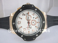 Wholesale Big Silver Case black rubber popular  Bang mechanical movement Deluxe multi-function luxury watches