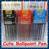 [FORREST SHOP] High Quality Ture Color Black Blue Office School Ball Point Pen 0.7 MM (30 pieces/lot) FRS-1577