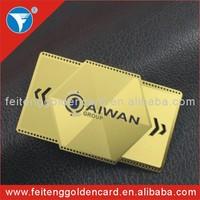 engraved Metal Business Card models,business gift use 24k golden Metal Business Cards wholesale