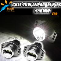 2013 Newest headlight angel eye E90 20W for BMW LED Ring Angel eyes