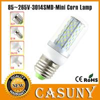 New arrival 85-265V 48 78 120pcs 3014SMD E27 mini led light lamp 110v mini corn bulbs 7W 12W E14 GU10 B22 G9 9W pure/warm white