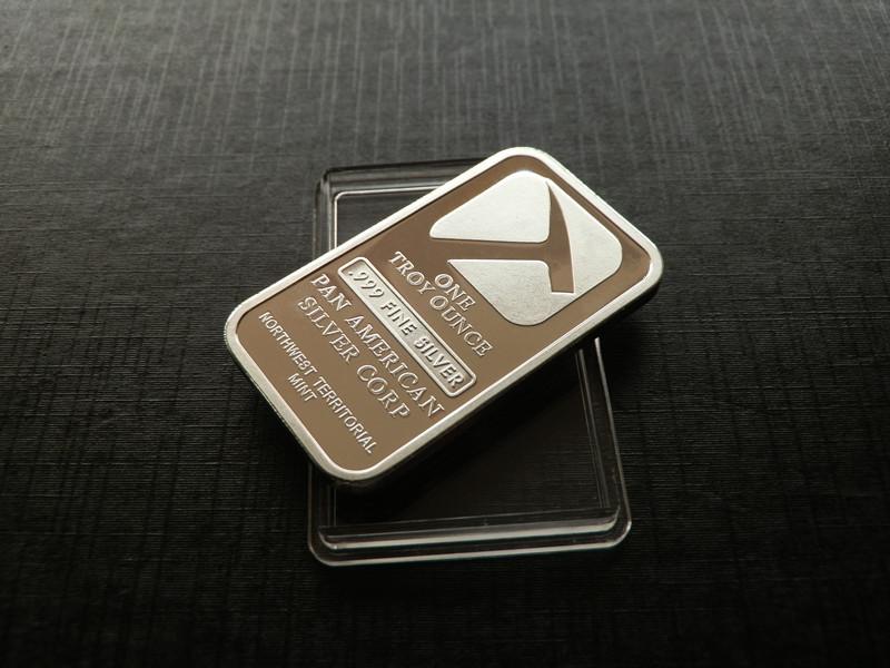 Updated .999 Fine SILVER BAR BULLION US Pan American Silver plated Bar,1pcs/lot(China (Mainland))