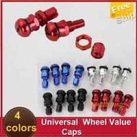 Free Ship  2x0.39 diameter 4 pcs/set  Stem Universal Value Caps Wheels Racing Tire Rims