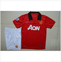 13-14 season Jerseys The reds' soccer uniform Wayne rooney van persie jersey Short sleeve shirt