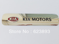 Free shipping, Excellent 3D Kia plated metal Car displacement Badge sticker for Kia all car, car Sticker