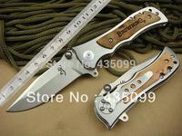 5Pcs/Lot Browning Knife 339 Pocket Hunting Knives Outdoor Survival Knife Folding Hardened 440C 57HRC Steel Maple Wood Handle