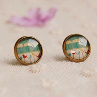 Wholesale Fashion Birds Stud Earrings for Girls Ideal Christmas Gifts 12mm 12pairs/lot rd14