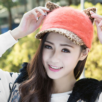 Free Shipping New Winter Fur Hat Velvet Hat Baseball Cap